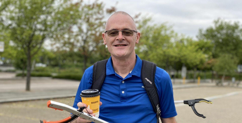 One man, 24 miles, 57,000 steps on the #LoveMKHateLitter journey
